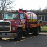 Septic Tank - Note confined space entry equipment (Glastonbury school system)
