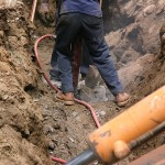 Septic Tank - Installation of septic system in rock ledge